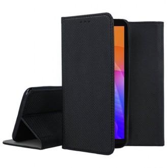 """Juodos spalvos atverčiamas dėklas Huawei Y5P telefonui """"Smart Magnet"""""""