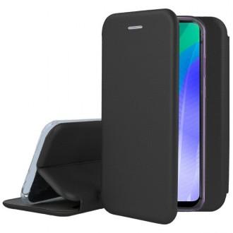 """Juodos spalvos atverčiamas dėklas Huawei Y6P telefonui """"Book Elegance"""""""