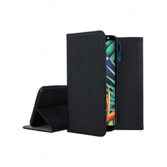 """Juodos spalvos atverčiamas dėklas LG K40 telefonui """"Smart Magnet"""""""