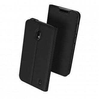 """Juodos spalvos atverčiamas dėklas Nokia 2.2 telefonui """"Dux Ducis Skin"""""""