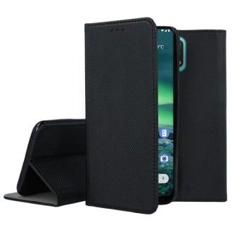 """Juodos spalvos atverčiamas dėklas Nokia 2.3 telefonui """"Smart Magnet"""""""