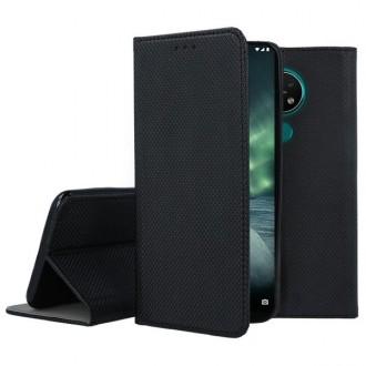 """Juodos spalvos atverčiamas dėklas Nokia 6.2 / 7.2 telefonui """"Smart Magnet"""""""