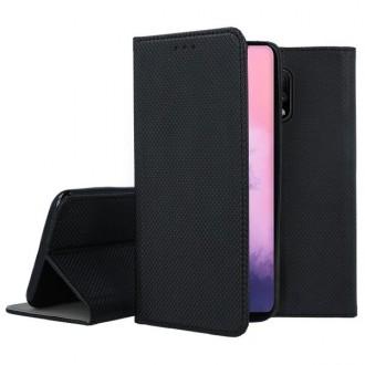 """Juodos spalvos atverčiamas dėklas OnePlus 7 telefonui """"Smart Magnet"""""""