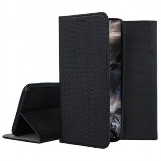 """Juodos spalvos atverčiamas dėklas OnePlus Nord telefonui """"Smart Magnet"""""""