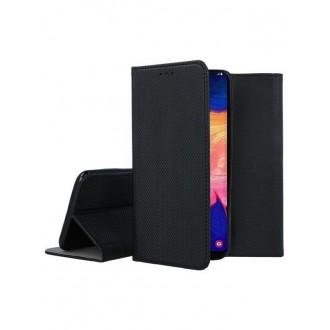 """Juodos spalvos atverčiamas dėklas Samsung Galaxy A105 A10 telefonui """"Smart Magnet"""""""