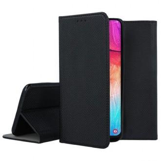 """Juodos spalvos atverčiamas dėklas Samsung Galaxy A505 A50 / A507 A50s / A307 A30s telefonui """"Smart Magnet"""""""