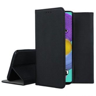 """Juodos spalvos atverčiamas dėklas Samsung Galaxy A51 telefonui """"Smart Magnet"""""""