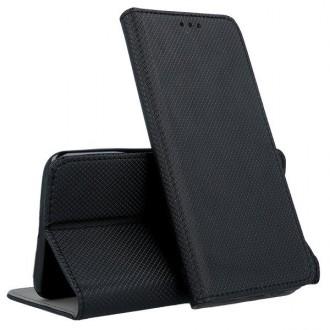 """Juodos spalvos atverčiamas dėklas """"Smart Magnet"""" telefonui Samsung A51 5G"""