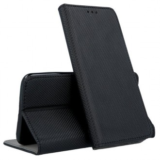 """Juodos spalvos atverčiamas dėklas """"Smart Magnet"""" telefonui Samsung A725 A72"""