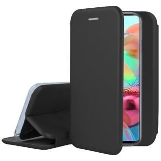 """Juodos spalvos atverčiamas dėklas Samsung Galaxy A715 A71 telefonui """"Book Elegance"""""""