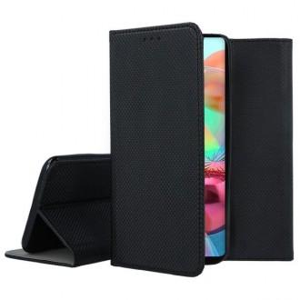 """Juodos spalvos atverčiamas dėklas Samsung Galaxy A715 A71 telefonui """"Smart Magnet"""""""