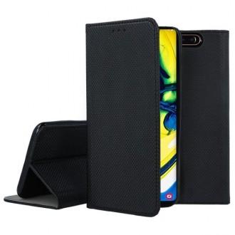 """Juodos spalvos atverčiamas dėklas Samsung Galaxy A805 A80 telefonui """"Smart Magnet"""""""