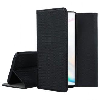 """Juodos spalvos atverčiamas dėklas Samsung Galaxy Note 10 telefonui """"Smart Magnet"""""""