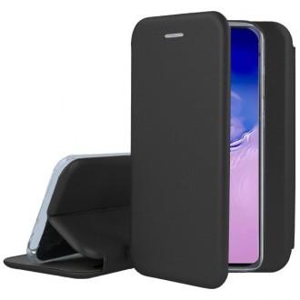 """Juodos spalvos atverčiamas dėklas Samsung Galaxy S10 Lite / A91 telefonui """"Book elegance"""""""