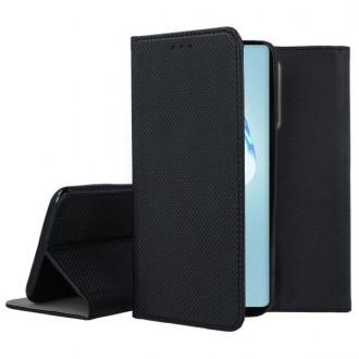 """Juodos spalvos atverčiamas dėklas Samsung Galaxy S20 Ultra telefonui """"Smart Magnet"""""""