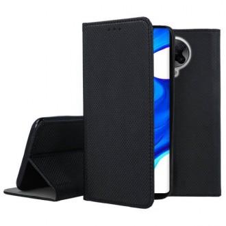 """Juodos spalvos atverčiamas dėklas Xiaomi Poco F2 Pro / Redmi K30 Pro / K30 Pro telefonui """"Smart Magnet"""""""