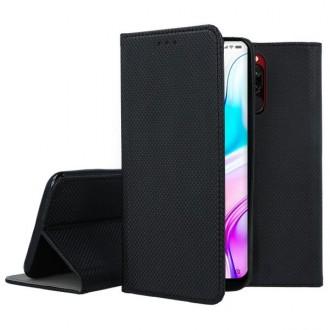 """Juodos spalvos atverčiamas dėklas Xiaomi Redmi 8 telefonui """"Smart Magnet"""""""