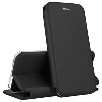 """Juodos spalvos atverčiamas dėklas Xiaomi Redmi Note 9 telefonui """"Book elegance"""""""