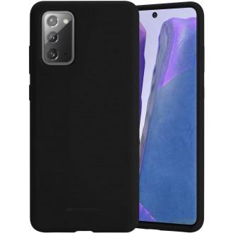 """Juodos spalvos dėklas """"Mercury Silicone Case"""" Samsung Galaxy N980 Note 20 telefonui"""