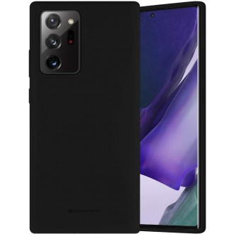 """Juodos spalvos dėklas """"Mercury Silicone Case"""" Samsung Galaxy N985 Note 20 Ultra telefonui"""