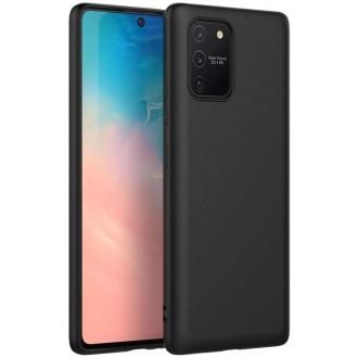 Juodos spalvos dėklas X-Level Dynamic Samsung Galaxy S10 Lite / A91 telefonui