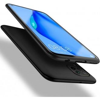 Juodos spalvos dėklas X-Level Guardian Huawei P40 Lite / Nova 6 SE / Nova 7i telefonui