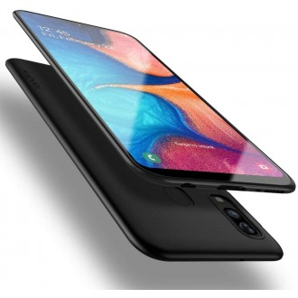 Juodos spalvos dėklas X-Level Guardian Samsung Galaxy A202 A20e telefonui