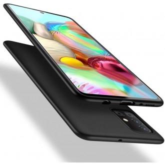 Juodos spalvos dėklas X-Level Guardian Samsung Galaxy A715 A71 telefonui