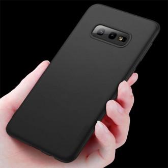Juodos spalvos dėklas X-Level Guardian Samsung Galaxy G970 S10e telefonui
