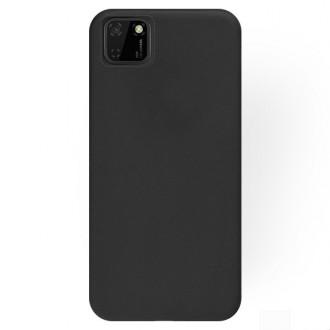 """Juodos spalvos silikoninis dėklas Huawei Y5P telefonui """"Rubber TPU"""""""