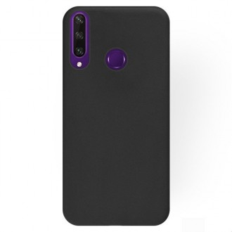"""Juodos spalvos silikoninis dėklas Huawei Y6P telefonui """"Rubber TPU"""""""