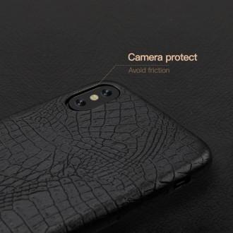 Juodas, Krokodilo Odos Imitacijos Dėkliukas iPhone 11 Pro Telefono Modeliui