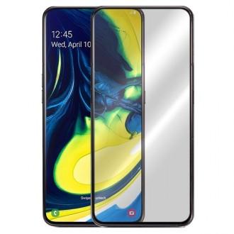 "LCD apsauginis stikliukas ""5D Full Glue"" Samsung Galaxy A80 / A90 juodas"
