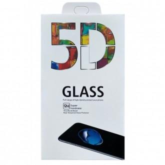 LCD apsauginis stikliukas 5D Full Glue Samsung S21 lenktas juodais krašteliais, be išpjovimo