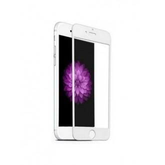 Lenktas baltas 3D apsauginis grūdintas stiklas Apple iPhone 6/6s telefonui