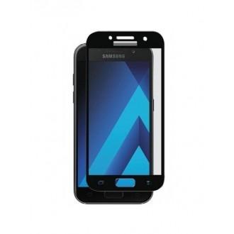 Lenktas juodas 3D apsauginis grūdintas stiklas Samsung Galaxy A3 2017 telefonui