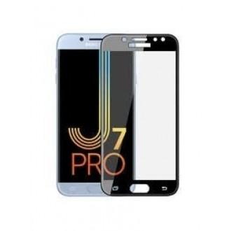 Lenktas juodas grūdintas stiklas 5D Full Glue Samsung Galaxy J730 J7 2017 telefonui