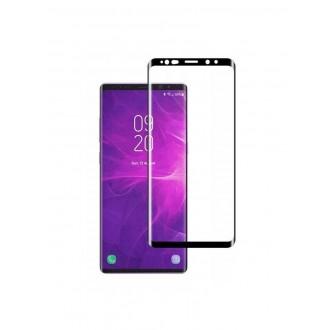 """Lenktas juodas LCD apsauginis stikliukas """"5D Full Glue"""" Samsung G955 S8 Plus"""
