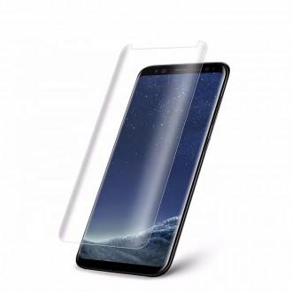 """Lenktas skaidrus apsauginis grūdintas stiklas Samsung Galaxy G950 S8 telefonui """"M1 5D UV Glue"""""""