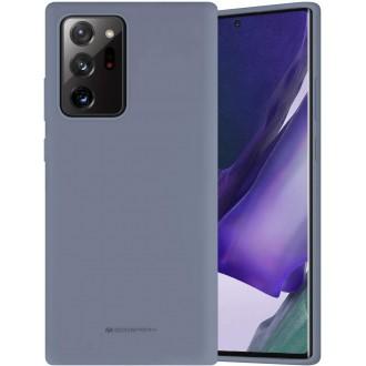 """Levandos pilkos spalvos dėklas """"Mercury Silicone Case"""" Samsung Galaxy N985 Note 20 Ultra telefonui"""