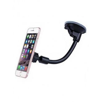 Magnetinis automobilinis universalus telefono laikiklis H03, tvirtinamas prie lango, lanksti kojelė