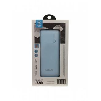 Mėlyna išorinė baterija POWER BANK Leslie LP005 10000mAh