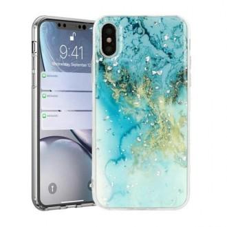 "Mėlynas dėklas ""Marble"" Samsung Galaxy A31 telefonui"