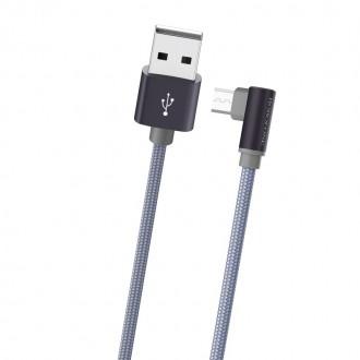 Metalinis pilkas USB kabelis Borofone BX26 microUSB 1.0m