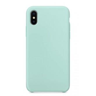 """Mėtos spalvos silikoninis dėklas Apple iPhone 12 telefonui """"Liquid Silicone"""" 1.5mm"""