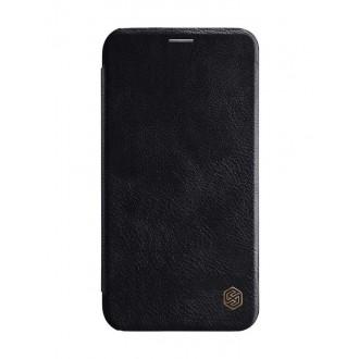 """Odinis juodas atverčiamas dėklas Apple iPhone XS Max telefonui """"Nillkin Qin"""""""