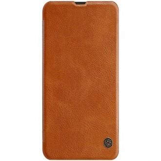 """Odinis rudas atverčiamas dėklas Samsung Galaxy A305 A30 telefonui """"Nillkin Qin"""""""
