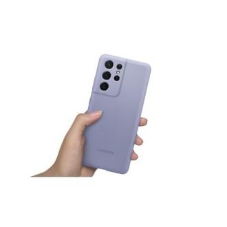 """Orginalus Samsung S21 ULTRA violetinis silikoninis dėklas """"Silicone Cover"""""""