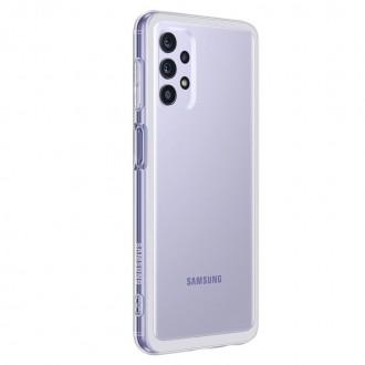 """ORIGINALUS Samsung A22 5G itin skaidrus silikoninis dėklas """"Soft Clear Cover"""""""