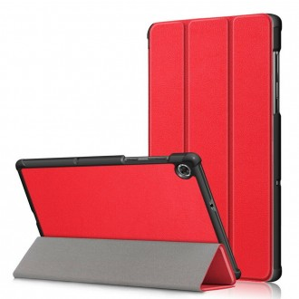 """Raudonas atverčiamas dėklas Lenovo Tab M10 Plus X606 """"Smart Leather"""""""